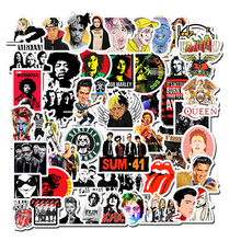 50Pcsสติกเกอร์Hip Hop Rock & Rollน่ารักการ์ตูนตัวอักษรGraffitiสติกเกอร์ของเล่นสำหรับแล็ปท็อปสเก็ตบอร์ดDecals F5
