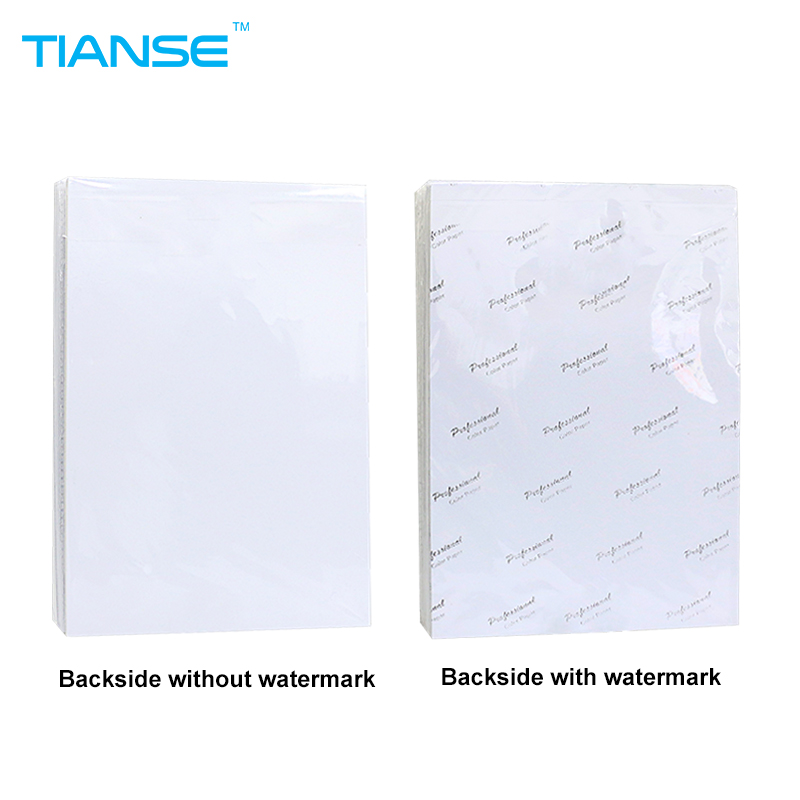TIANSE A5 A6 Luminous 4R/6 inch 5R/7 inch 3R/5 inch High glossy photo paper 127x178mm 100sheets/pack for color inkjet printer