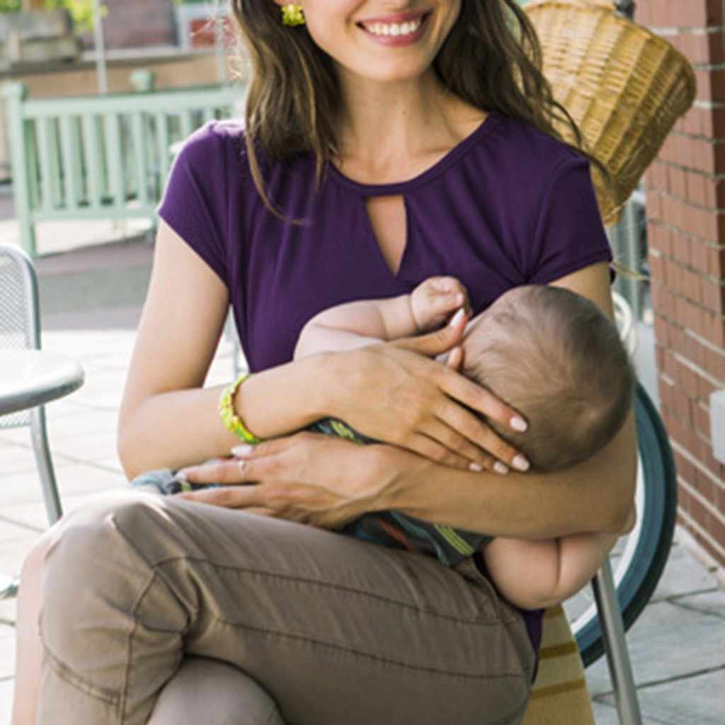 Cap Manga Curta vestido de Enfermagem da Maternidade Top Envoltório das mulheres Camada Dupla Blusa Camiseta embarazo Maternidade Blusa plus size mulheres pano