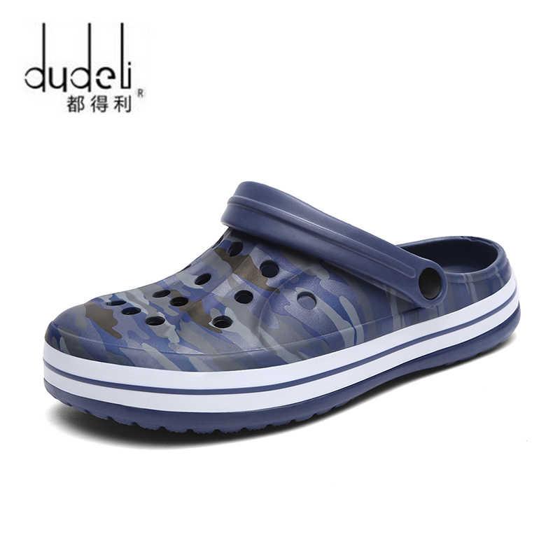 Erkek ayakkabısı erkek sandalet crocse delik ayakkabı erkek Croc ayakkabı takunya zapatos de Sandalias hombre sandalet sandalet erkekler yazlık terlik