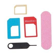 Конвертер с шлифовальной панелью лоток открытая игла для iPhone 5S 7 Plus 6 S для Xiaomi Redmi 3 s 5в1 микро Стандартный комплект адаптеров для сим-карты