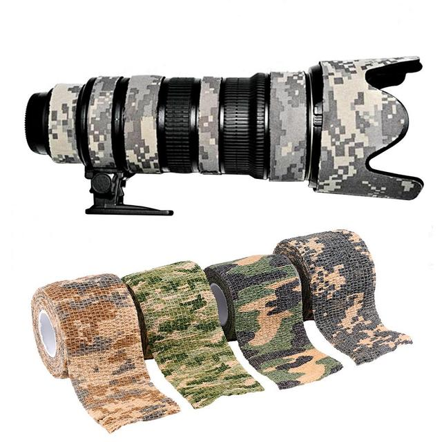 1pc hot 5cmx4.5m Army Camo Outdoor Hunting Shooting Tool Camouflage Stealth Tape Waterproof Wrap Durable
