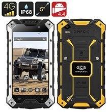 Шам S6 прочный смартфон-MTK8752 4 ядра Процессор, 3 ГБ Оперативная память 32 ГБ Встроенная память 4 г, IP68, 5 дюймов HD Экран, Android 5.1, NFC