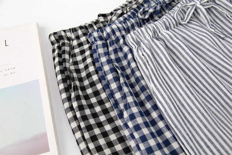 Новые хлопковые мужские пижамы свободные мужские штаны для сна клетчатые мужские Пижамные штаны пижамные штаны домашняя одежда