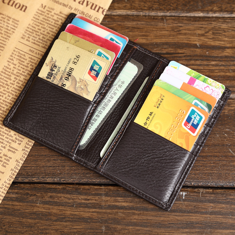 Aliexpress.com : Buy First Grade Genuine Leather Credit ...