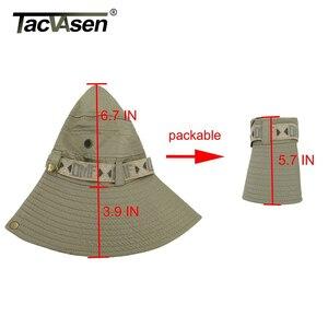Image 5 - TACVASEN צבא גברים טקטי צלף כובעי דגי דלי כובעי Boonie כובע קיץ שמש הגנה ספארי כובע צבאי טיול האנט כובעים כובעים
