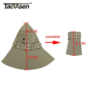 Image 5 - Тактические мужские тактические снайперские шляпы TACVASEN, шляпа ведро с рыбой, летняя шляпа от солнца, шляпа для сафари, военные походные охотничьи шапки