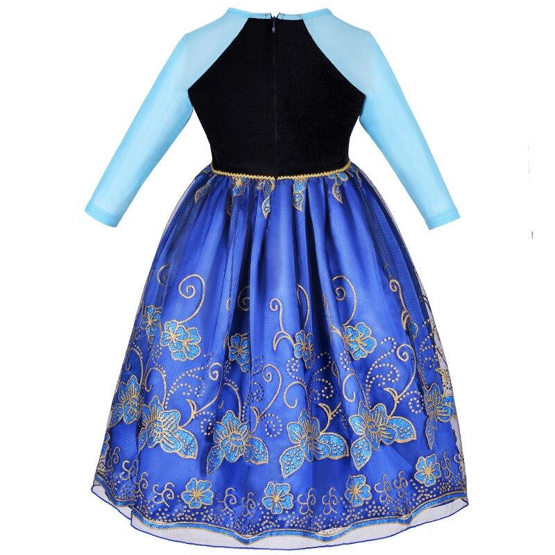 978a635c0 Vestido de niñas dibujos animados Cosplay Snow Queen princesa vestidos Elsa  vestidos Anna disfraz bebé niños