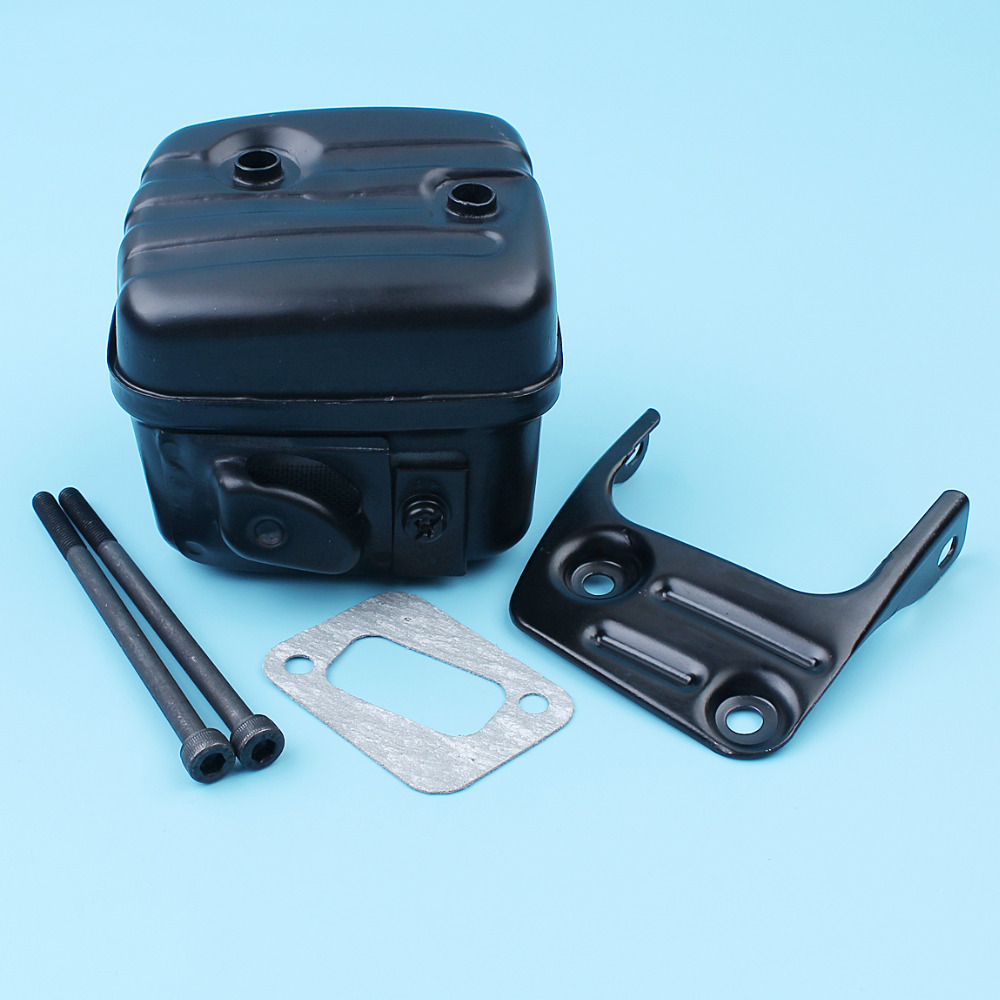 Exhaust Muffler Silencer W/ Bracket Screw Gasket Kit For Husqvarna 350 353 346XP 345 340 E EPA Chainsaw # 503862803 Replace Part