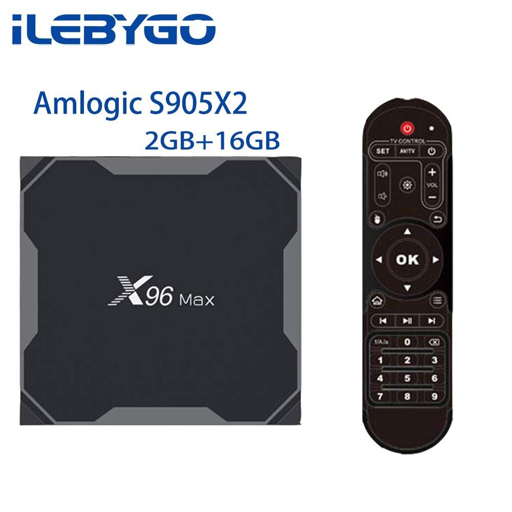 iLebygo X96 MAX Android 8.1 TV BOX Amlogic S905X2 LPDDR4 2G 16G Quad Core 2.4G+5G Dual Wifi Bluetooth 1000M 4K HD Media PlayeriLebygo X96 MAX Android 8.1 TV BOX Amlogic S905X2 LPDDR4 2G 16G Quad Core 2.4G+5G Dual Wifi Bluetooth 1000M 4K HD Media Player