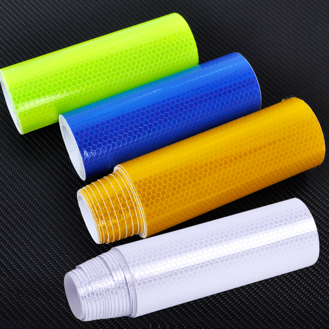 CITALL 4 Colors 3m X 15cm Reflective Safety Warning Conspicuity Tape Film Sticker Length 3M Smooth Surface Water Resistance