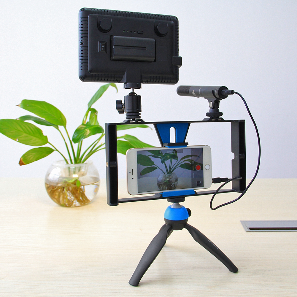 USEFUL Smartphone Video Grip Handle Rig Cell Phones Video Maker Rig Diy Filmmaking Recording Case For Iphone Samsung