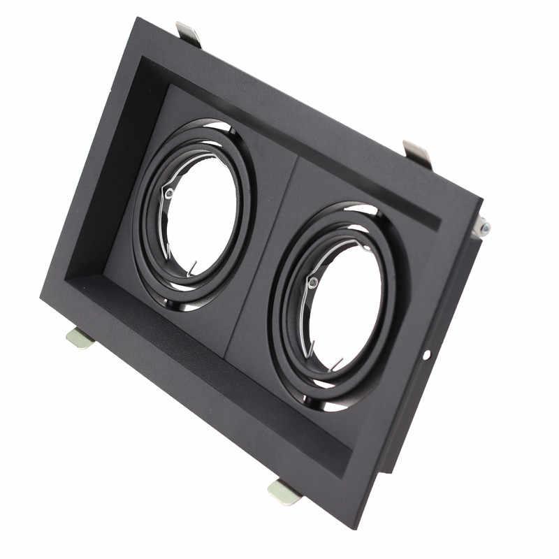 Квадратный двойной головкой белый/черный светодиодный потолочный потолочные