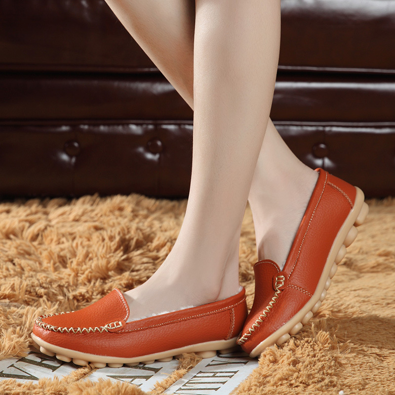 Women flats hollow women shoes Moccasin loafers breathable Oxford Genuine Leather women shoes Ballet Slip on chaussure branded men s penny loafes casual men s full grain leather emboss crocodile boat shoes slip on breathable moccasin driving shoes