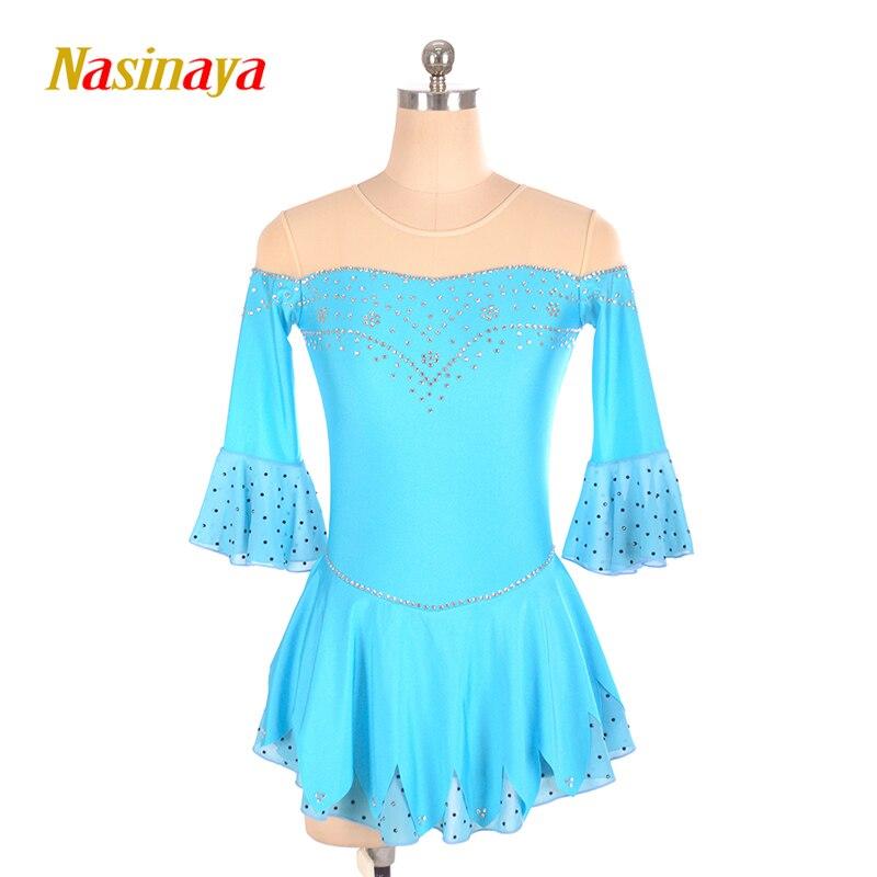 Nasinaya figura vestido Patinaje personalizado Patinaje de hielo de la competición para la muchacha mujeres niños Patinaje gimnasia rendimiento 234