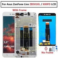 ЖК дисплей с сенсорным экраном для Asus ZenFone Live ZB501KL X00FD A007 черного и белого цвета