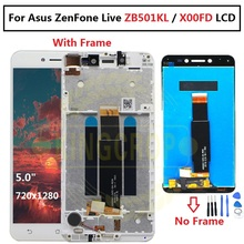 """For 5.0"""" Asus ZenFone Live ZB501KL X00FD A007 LCD screen display with frame touch panel digitizer white/black free shipping"""
