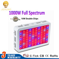 Full Spectrum LED Grow Light 1000W Double chips for Indoor Grow Tent 100X10W Leds LED Lamp for Plants Growth grow BE
