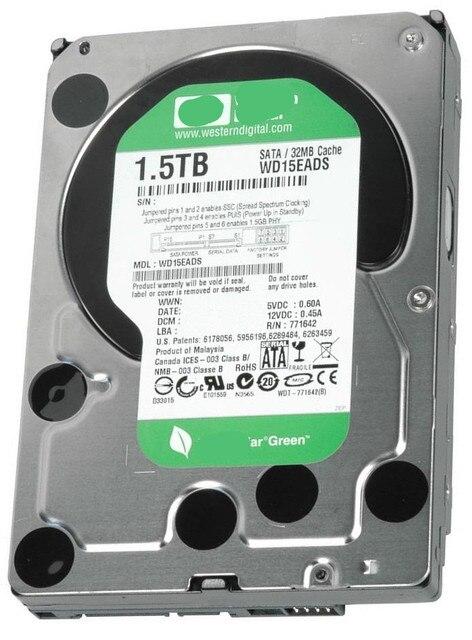 """WD15EADS 1.5 TB de disco duro de 1,5 TB, Interno, 7200 RPM, 3.5 """"prueba de trabajo"""