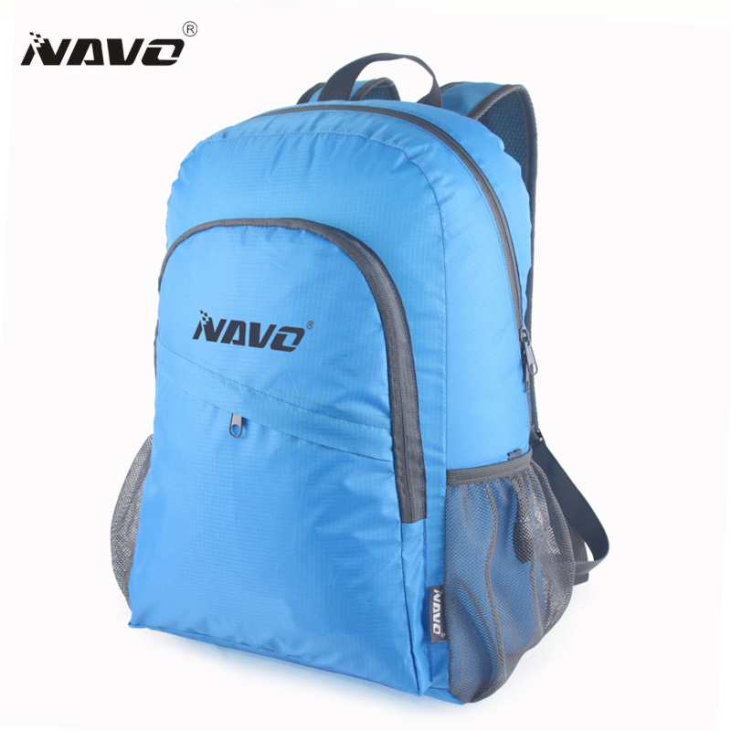 NAVO Water Resistant Back Pack Foldable Backpack Men Women Lightweight Portable Package Bag Sac A Dos Pliable Zaino BP-ZD20