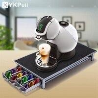 נירוסטה 36 כוסות קפה של נספרסו כמוסות מחזיק Pod Rack Stand מגירות אחסון מדפי קפסולות קפה ארגון