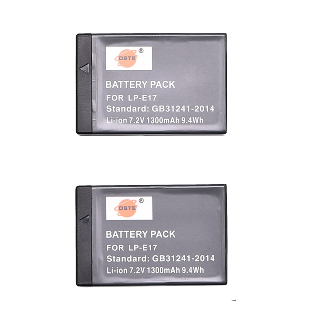 2 PCS LP-E17 DSTE Bateria para Canon EOS M3 200D 750D 760D T6i T6s 8000D 250D X8i EOS Rebel Beijo beijo SL3 X10 Câmera