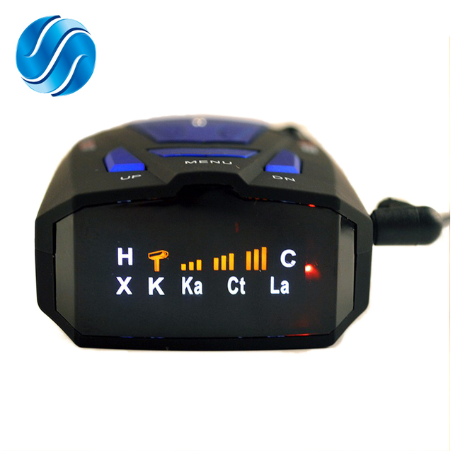 Auto Car Anti Radar Detector (English/Russian) for Vehicle V7 Speed Voice Alert Warning 16 Band LED Display Detector