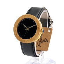 BOBO BIRD J29 Mujer Wooden Watches Fashion 20 mm Watch Band Women Acupuncture Needle with Leather Band Unisex Clock in Gift Box
