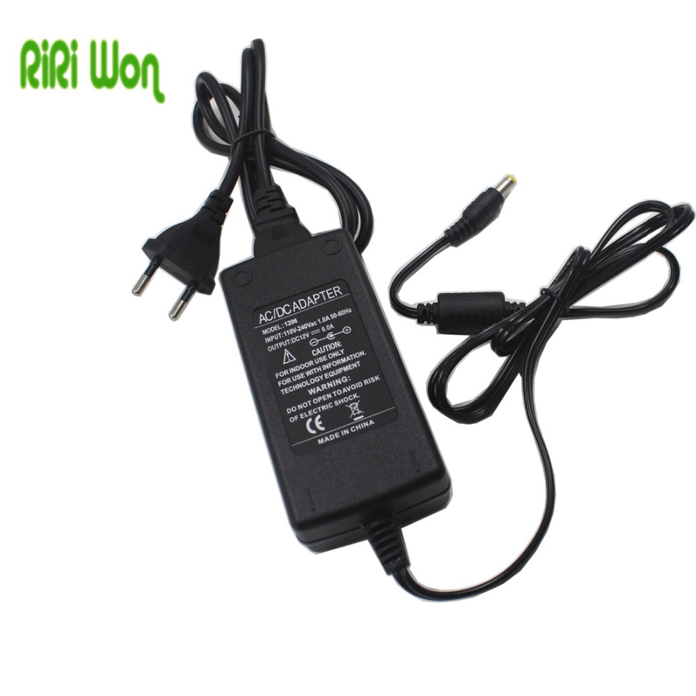 RiRi won 5.5mm x 2.5mm  Plug DC 12V 6A 72W Power Supply Charger Adaptor For LED Strip Light CCTV Camera Charger like a virgin secrets they won t teach you at business school