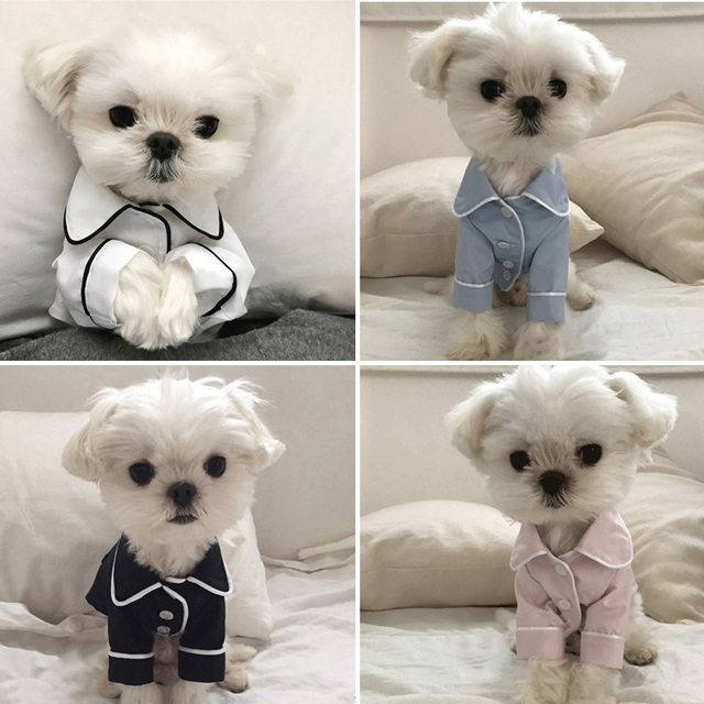 Luxury Clothes for Dog Fashion Dog Pajamas Pet Clothing for Small Medium Dogs Clothes Coat Yorkies Chihuahua Bulldogs Jacket 20D