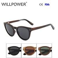 Sun Glasses Manufacture Hand Polished Wood Italian Acetate Sunglasses 2017 Brand