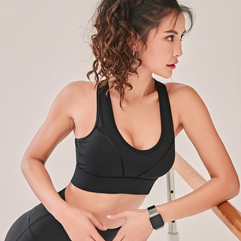 Woman Yoga Sports Bra Push Up Running Sport Top Shockproof Breathable Gym Fitness High Stretch 5