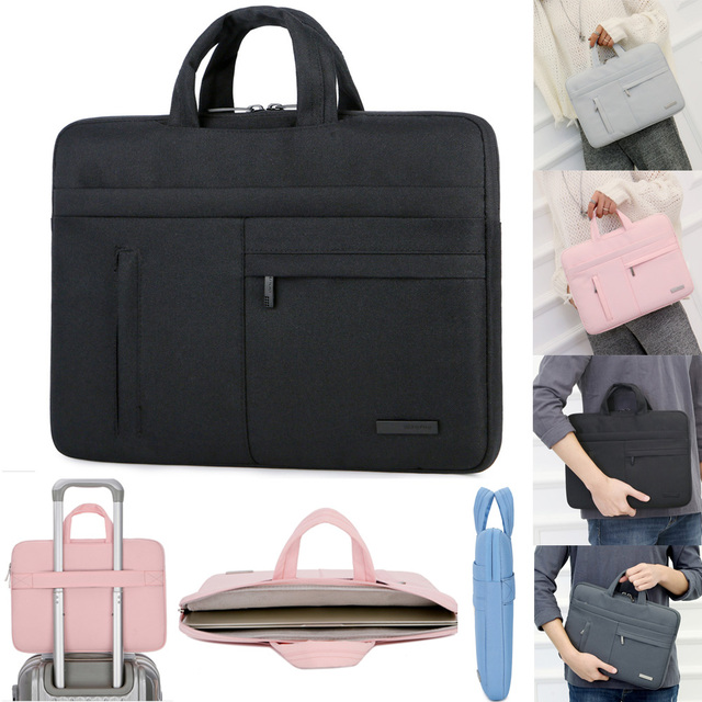 Nylon Laptop Sleeve Case Bag For Macbook Air Pro Asus Dell HP Acer 13 14 15.6 Notebook Portable handbag 13.3 14.1