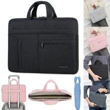 النايلون حقيبة لاب توب حالة شنطة لحمل macbook الهواء برو Asus Dell HP أيسر 13 14 15.6 دفتر المحمولة حقيبة يد 13.3 14.1
