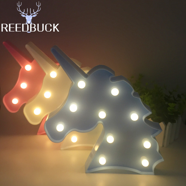 2017 Hote Sale Unicorn Head Led Night Light Desk Table