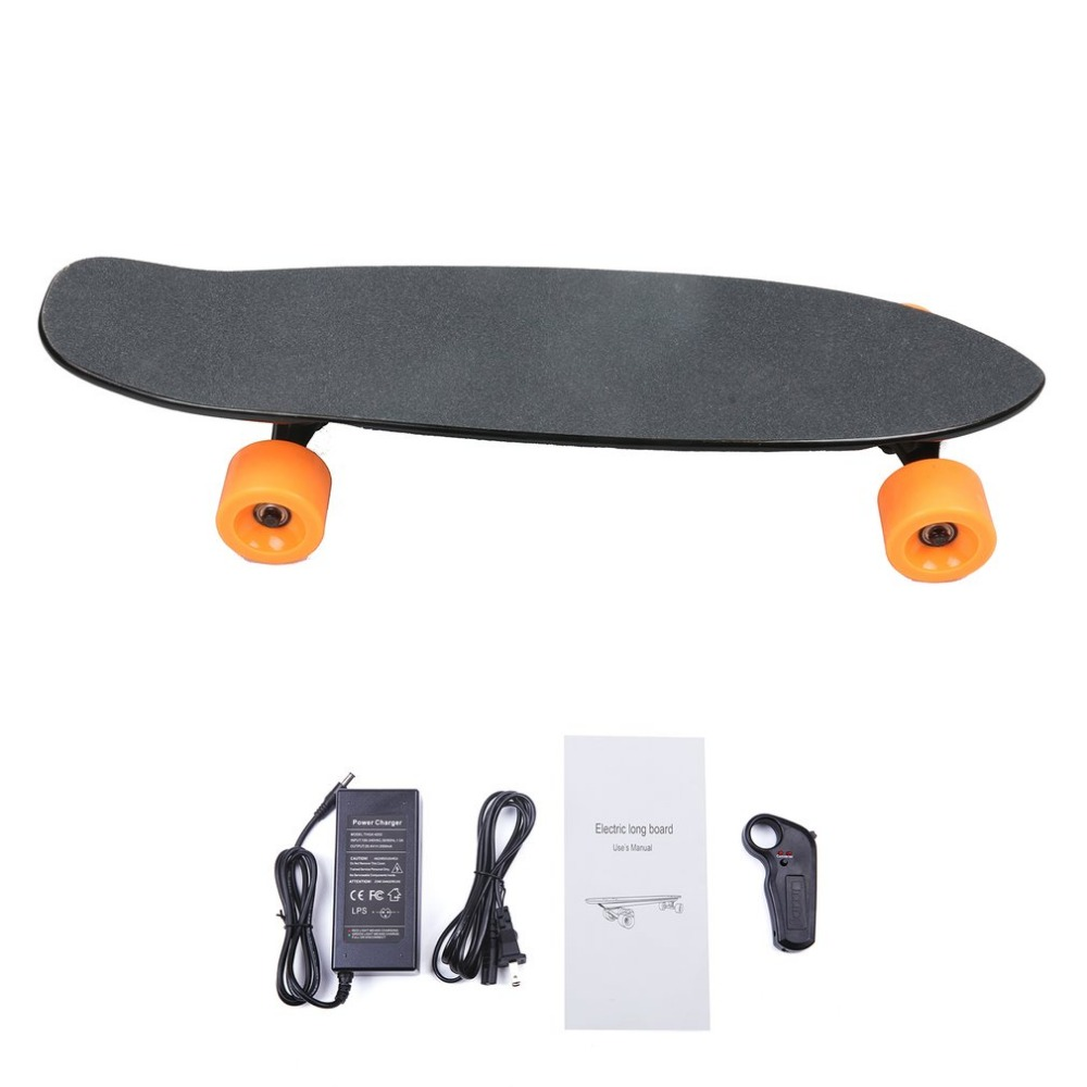 2.4G Frequency Wireless Remote Control Small Fish Board Electric Skateboard Motorized Hub Adult Scooter One Motor Well Sell alouette remote control electric skateboard scooter maple wood electric board longboard hub motor dual drive lg battery
