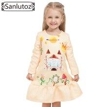 2016 Winter Girls Dress Brand Kids Clothes Girls Children Clothing Cartoon Dress Princess Holiday Party Wedding Toddler Autumn