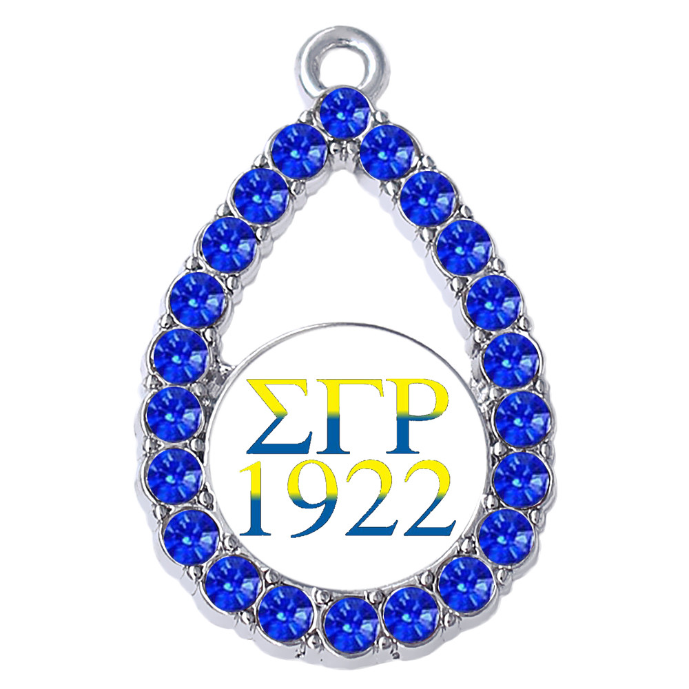 Double Nose Greek Letter Sigma Gamma Rho 1922 Sorority Charm Pendant