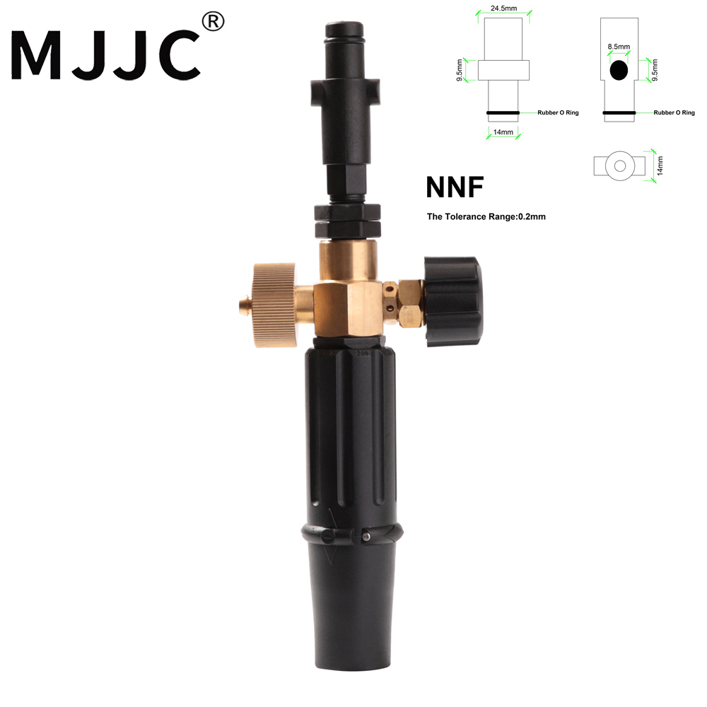 MJJC Standard and Lighter Version Foam Lance For Nilfisk Rounded Fitting for Gerni,Stihle Pressure Washers,Nilfisk