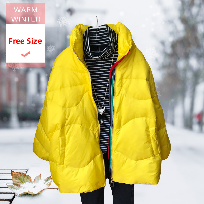 2019 New Fashion Winter Short White Duck Down Jacket Female Light Stand Collar Thick Feather Coat Warm Casual Large Size Outwear