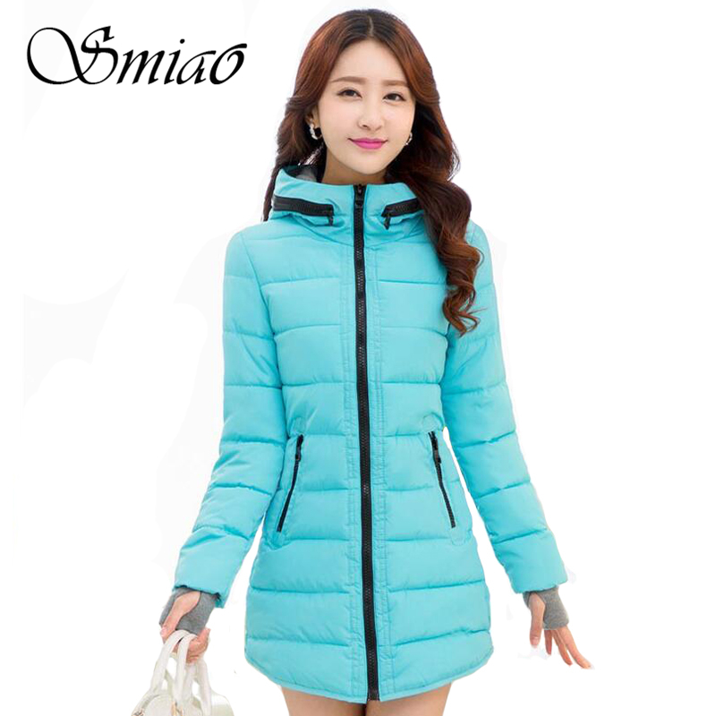 Smiao 2018 Gig Size 5XL 6XL Women's Winter Jacket Cotton Slim Women Parkas Hooded Plus Size Thick Warm Casual Female Coats Young free shipping winter parkas men jacket new 2017 thick warm loose brand original male plus size m 5xl coats 80hfx