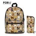 FORUDESIGNS/школьные сумки  Детский рюкзак  рюкзак с верблюжьим принтом  школьный рюкзак для девочек  школьный рюкзак для подростков  Mochila Escolar