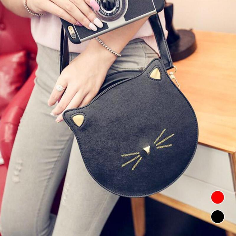 Famous designer brand Children bags handbags girls Cute cat shoulder bag small mini pink blue black kids candy color girl gift