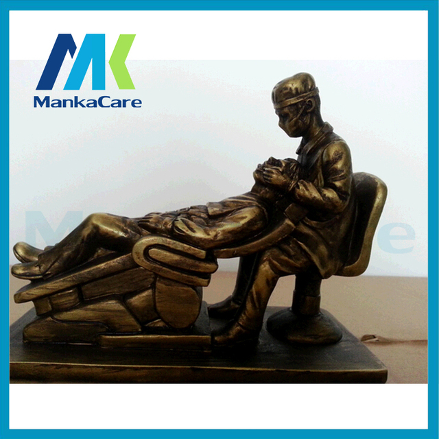Oral Examination Sculpture Handmade Resin Figure Statue Decoration Artwork Gift and Craft Ornament Embellishment Free shipping
