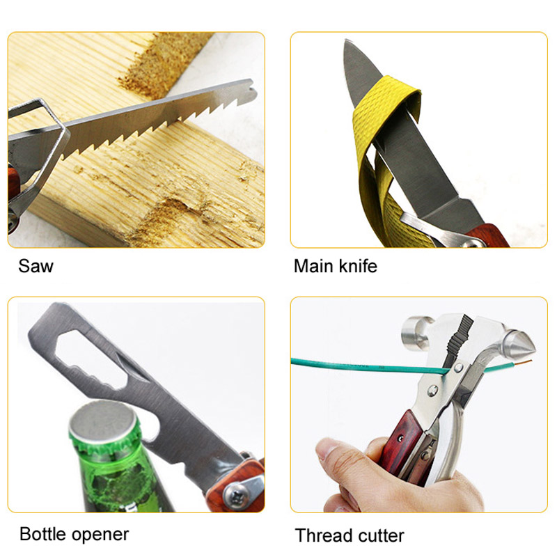 Car Safety Multifunction Hammer Tool Camping Equipment Hand Home Survival Supplies LAD-sale