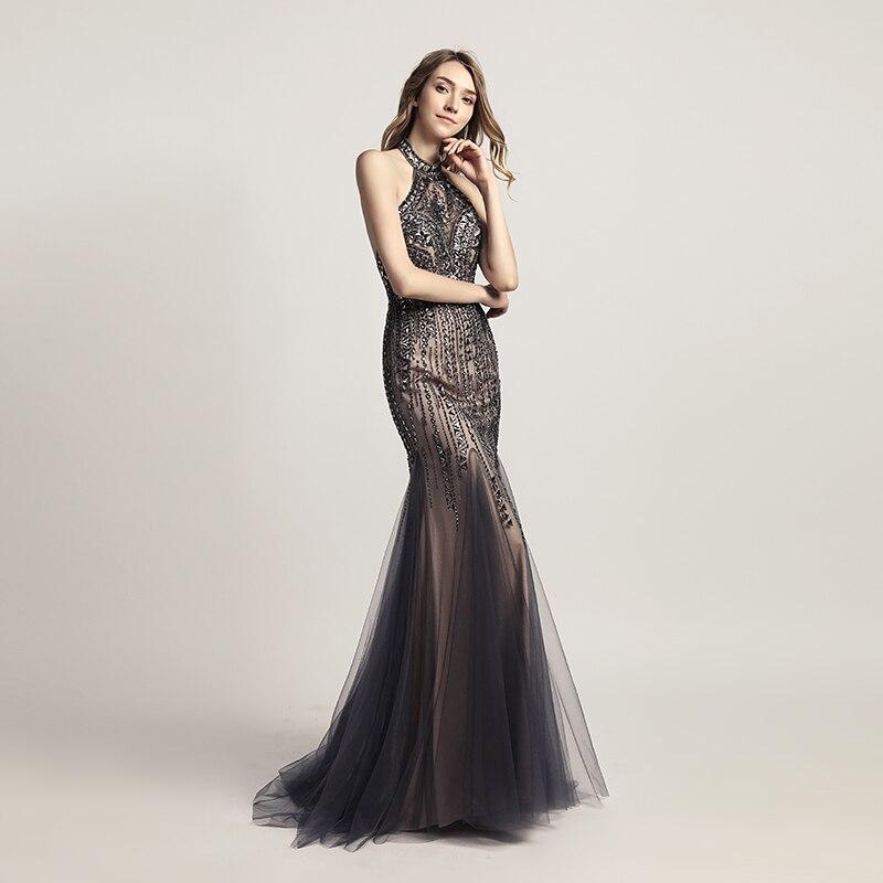 Echte foto's nieuwe luxe stijl elegante lange zeemeermin avondjurken - Jurken voor bijzondere gelegenheden - Foto 3
