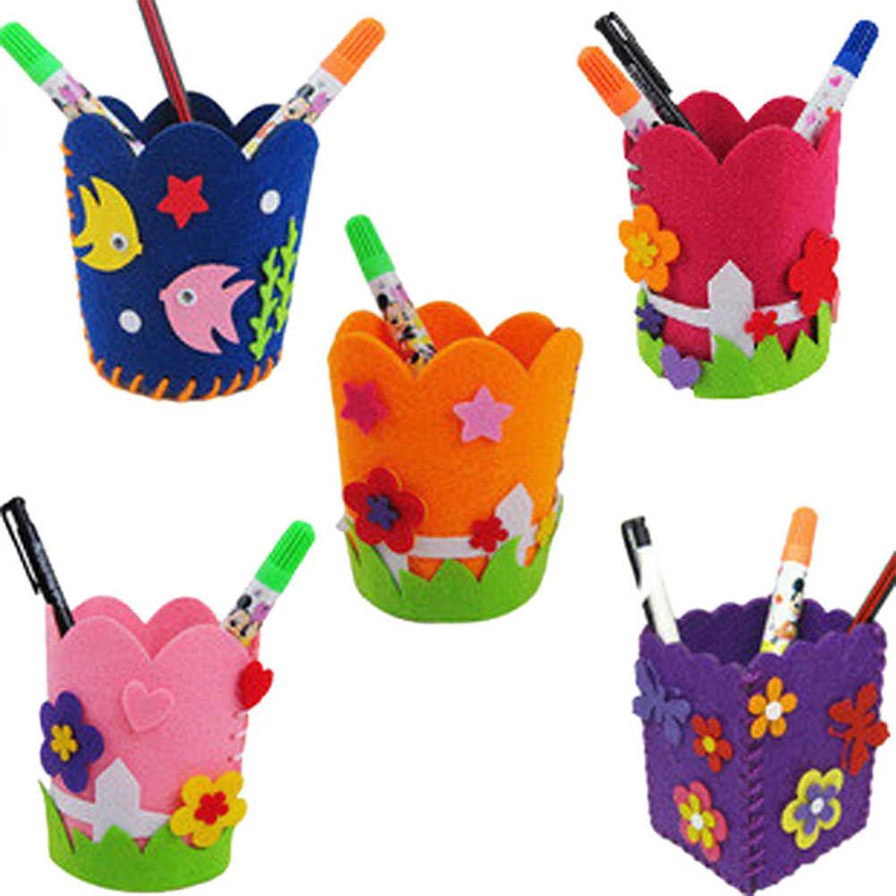 1pcs Creative DIY ดินสอเด็กหัตถกรรมของเล่นน่ารัก Handmade ปากกาคอนเทนเนอร์ Early การศึกษา Handcraft ชุดของเล่นสำหรับเด็กเด็ก
