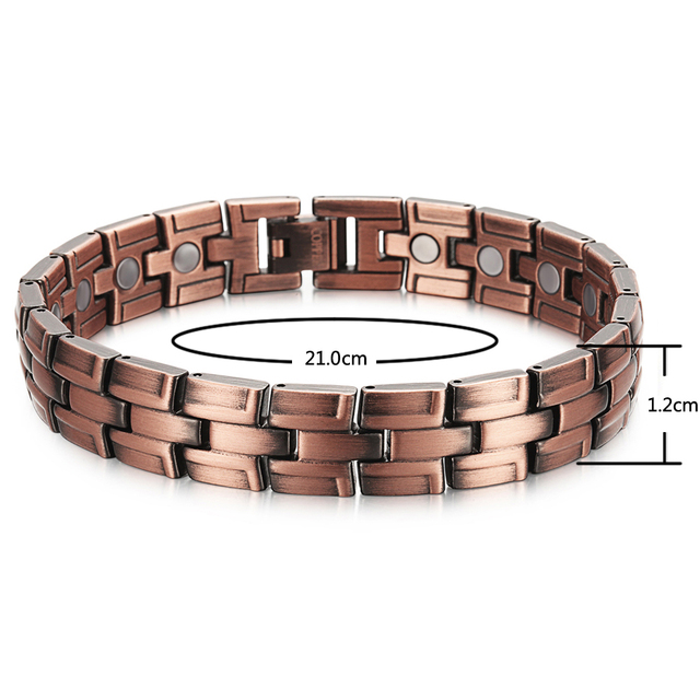 Trendy Copper Bracelet with Magnets