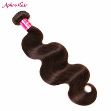 Aphro Hair Brazilian Body Wave Dark Brown Color Non-Remy Hair Bundles 1 Piece 100% Human Hair Extensions 8″-28″ Free Shipping