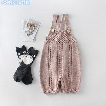 вязаная одежда для малышей осенние вязаные комбинезоны для малышей